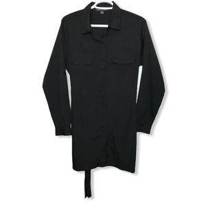 BEECHERS BROOK Woman's Button Down Black Blouse